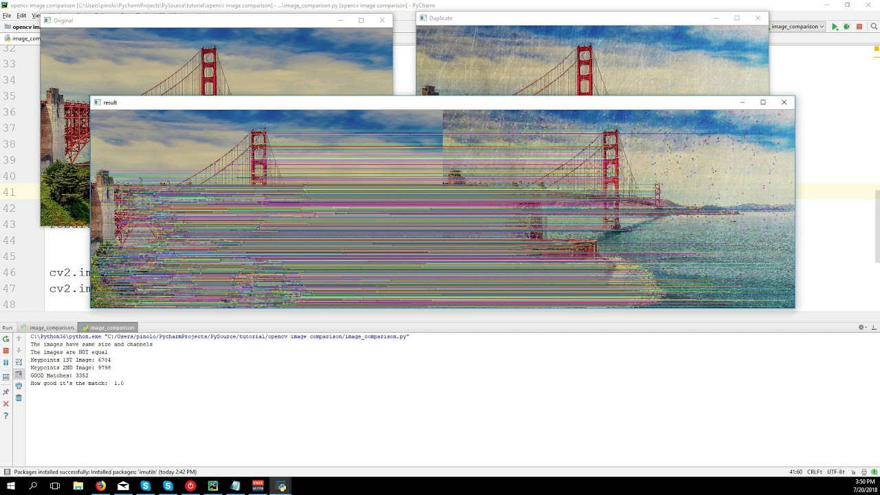 Detect how similar two images are with Opencv and Python – part 3
