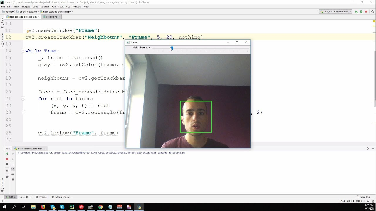 Face detection using Haar Cascades – OpenCV 3 4 with python 3