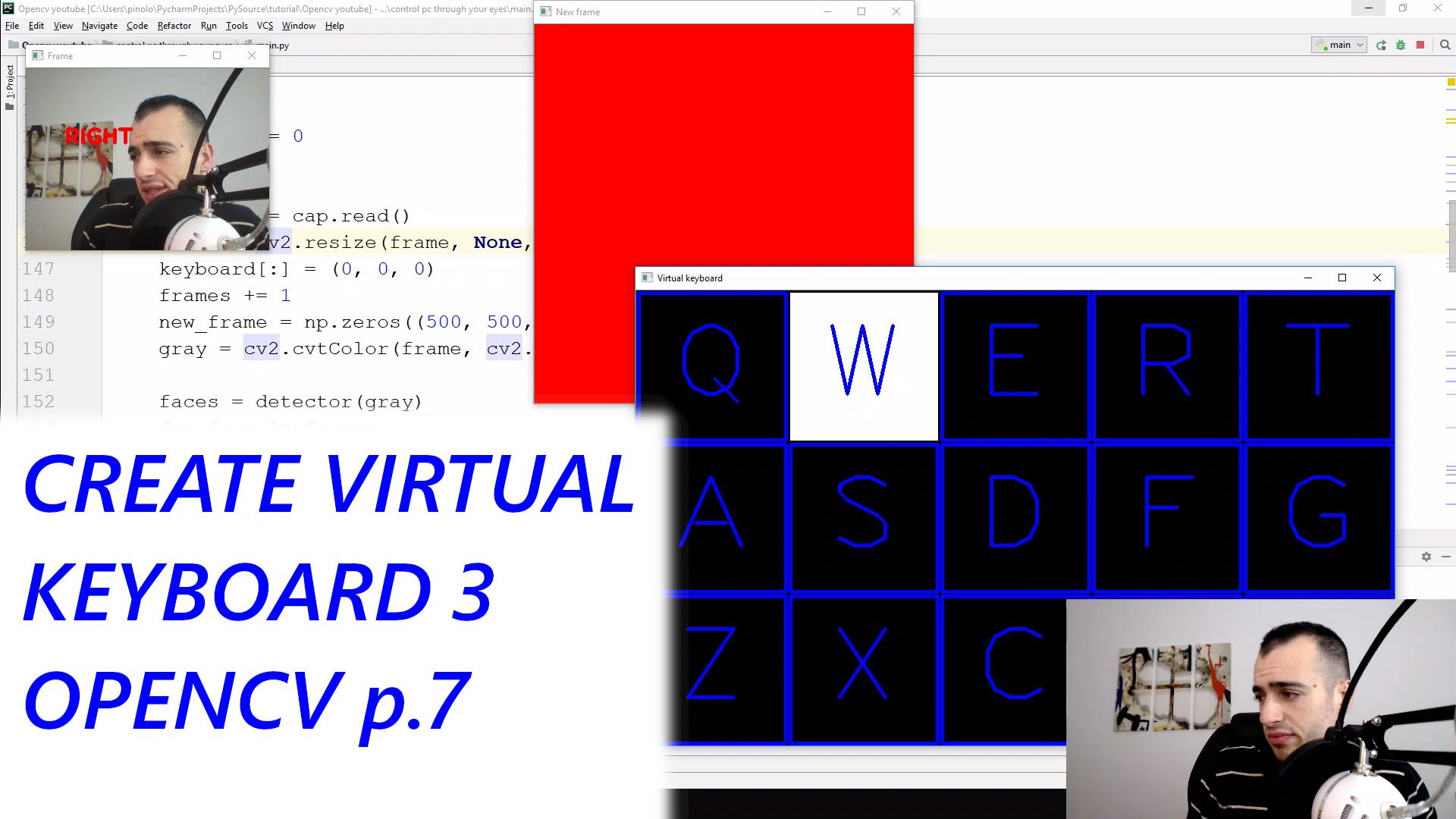 Virtual Keyboard 3 - Gaze controlled keyboard with Python