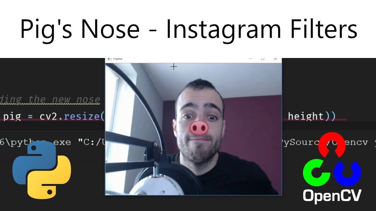 Pig's nose (Instagram face filter) – Opencv with Python