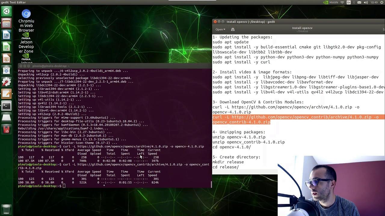 Install Opencv 4 1 on Nvidia Jetson Nano - Pysource