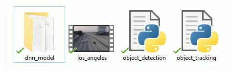 object tracking files and video